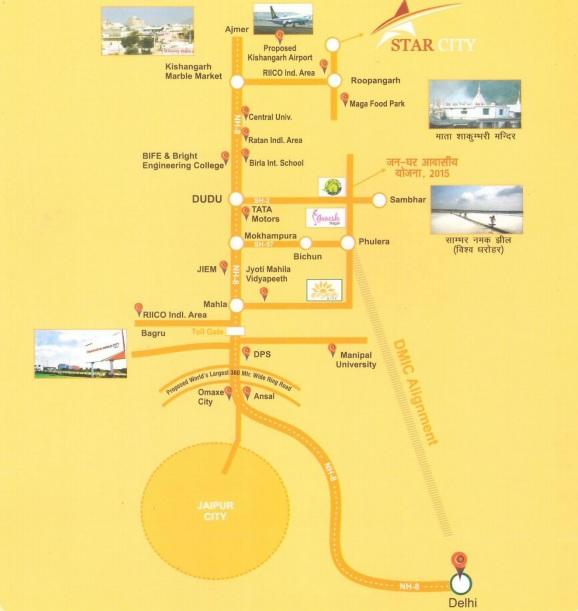 star city Location map